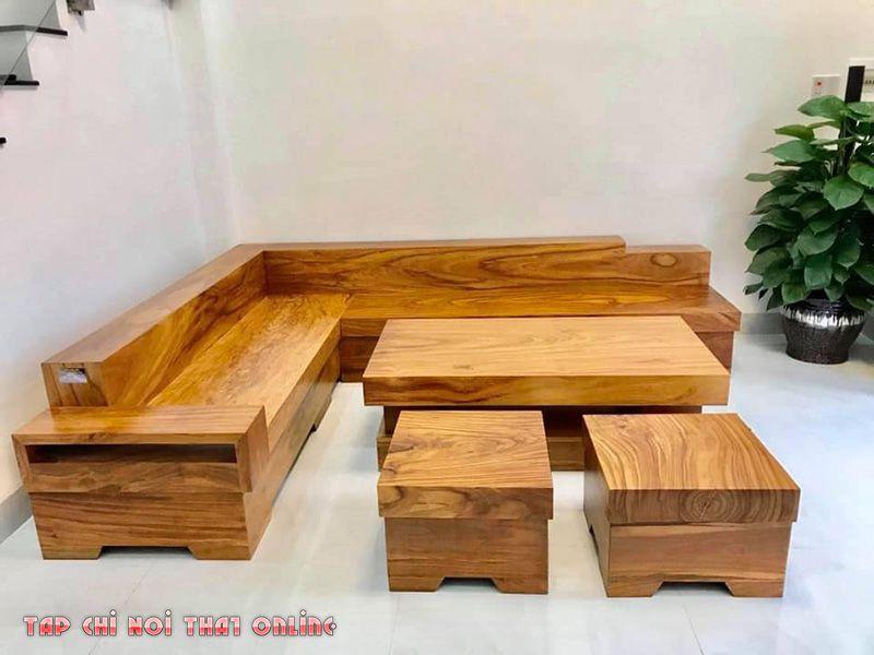 ghế sofa gỗ nguyên tấm