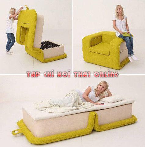 ghế sofa giường 1m2 gấp gọn