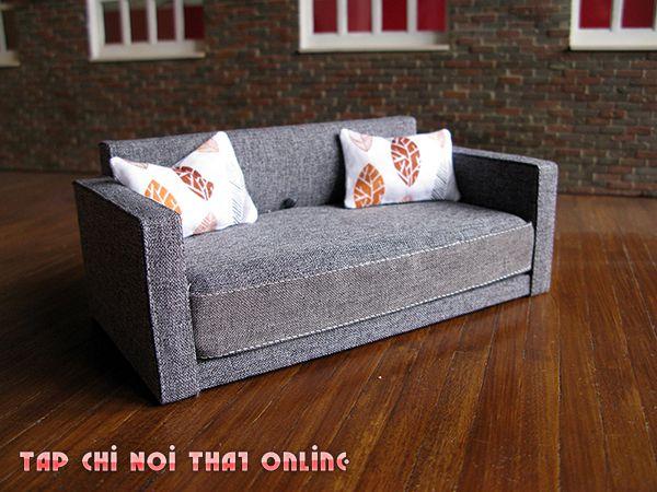ghế sofa giường kéo 1m2 khung gỗ