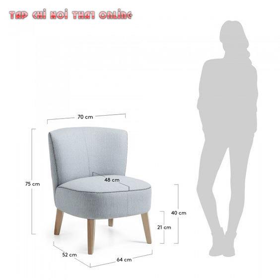 Kích thước sofa đơn tham khảo.