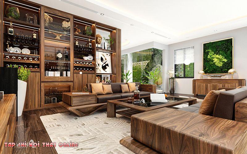 Phòng thủy phòng khách cần chú ý tới sofa, vị trí trên trần nhà.