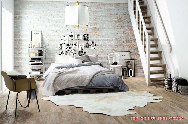 giường ngủ phong cách bắc âu