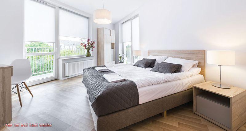 phòng ngủ phong cách bắc âu đơn giản