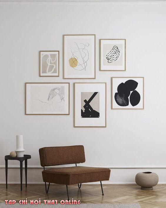 tranh treo tường phong cách bắc âu scandinavian