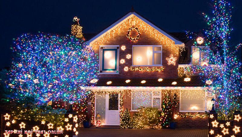 cách trang trí nhà cửa đón tết bằng đèn nháy