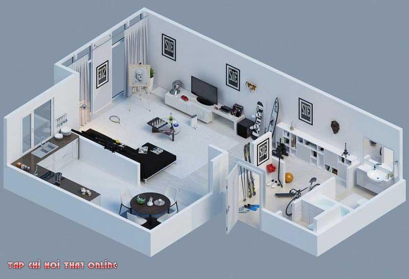 Diện tích phòng khách bao nhiêu m2 là hợp lý nhất?