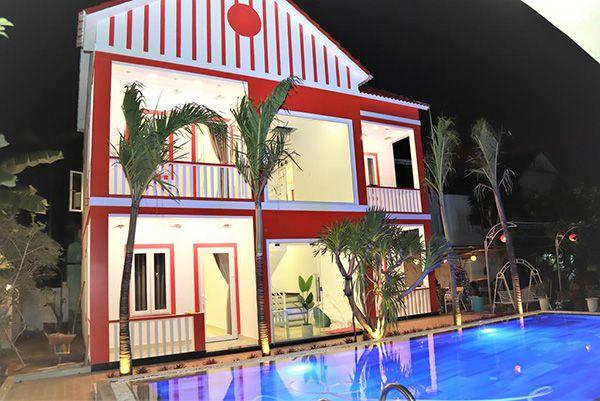 màu sơn nhà mệnh hỏa màu đỏ