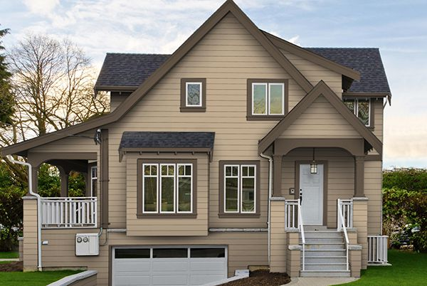 Màu sơn nhà bên ngoài đẹp cho người mệnh Thổ.