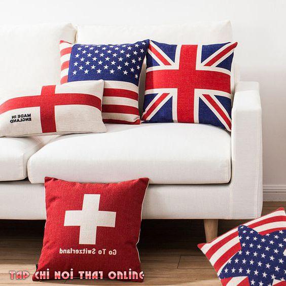 gối tựa ghế sofa quốc kỳ