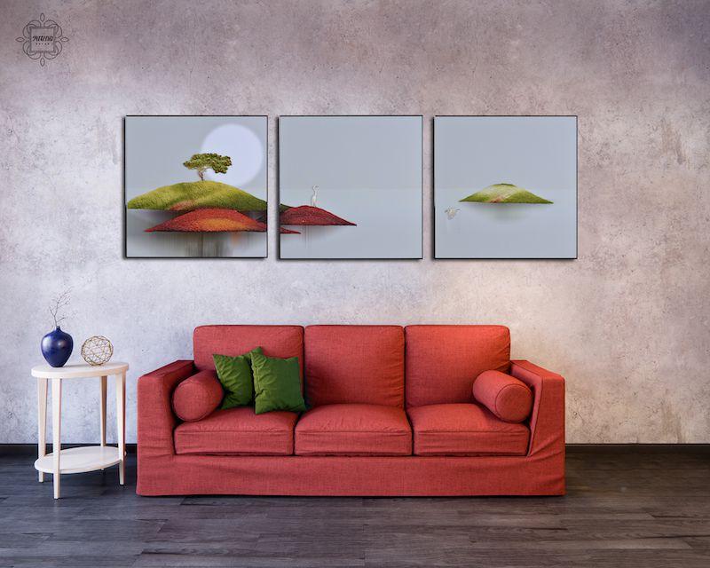 Tranh trừu tượng đơn giản cho phòng khách