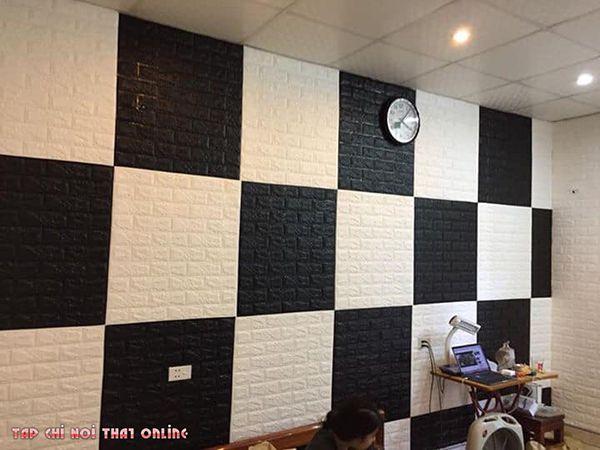 cách phối màu xốp dán tường phòng ngủ đẹp