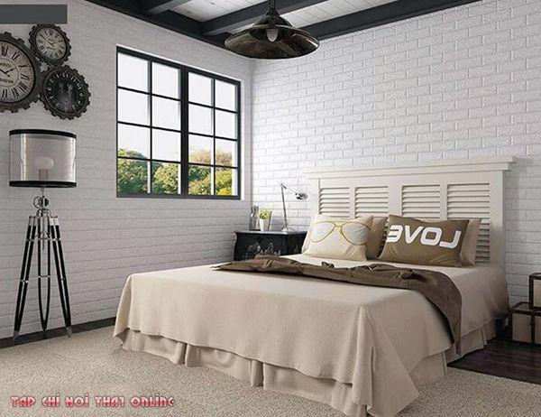 Xốp dán tường phòng ngủ đẹp không cần phối màu vẫn cực kỳ tinh té