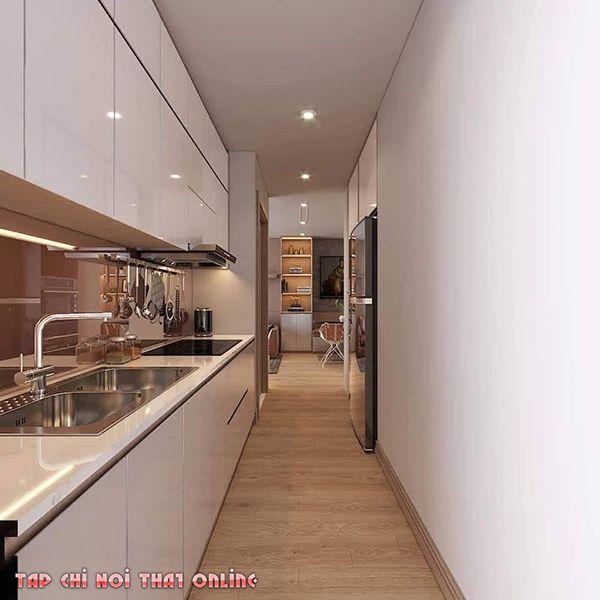 Cách trang trí hòng bếp nhà cấp 4 đơn giản hiện đại với diện tích nhỏ nhưng nhìn rất bắt mắt.