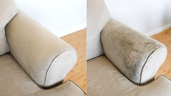 Cách vệ sinh sofa nỉ tại nhà với hiệu quả rõ rệt làm sạch vết bẩn.