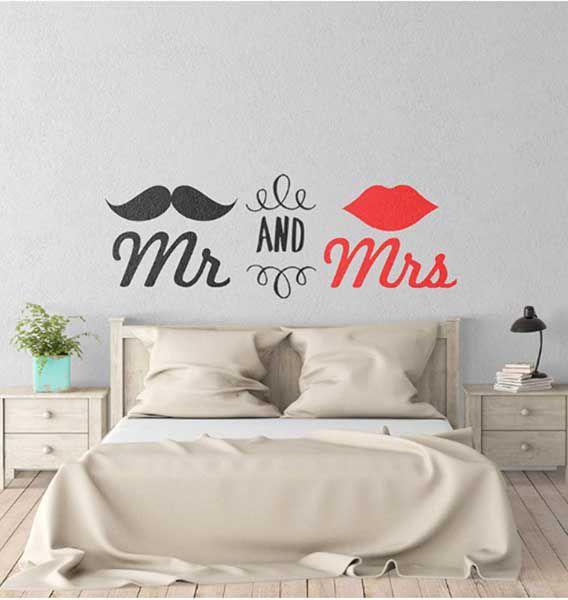 tranh dán tường phòng ngủ vợ chồng đẹp