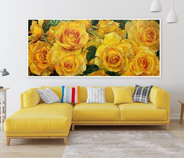tranh treo tường phòng khách khổ lớn hình chữ nhật